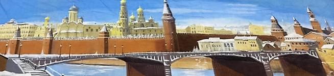 Decordoek Moskou in Wintertijd huren Ter Aar - Nieuwkoop