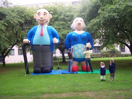 Jubileum Echtpaar Opblaasfiguren (4.5 m) huren Ter Aar - Nieuwkoop