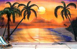 Decordoek Palmenstrand huren Ter Aar - Nieuwkoop