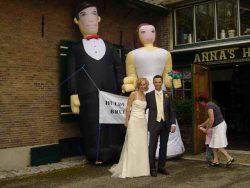 Bruidspaar Opblaasfiguren huren Ter Aar - Nieuwkoop